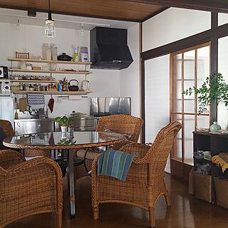 キッチン収納/古家DIY/漆喰壁DIY/古家を買ってリノベーション/花のある暮らし...などのインテリア実例 - 2018-06-29 10:04:23