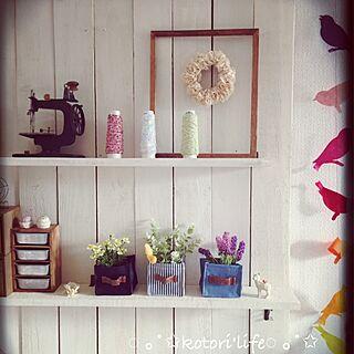 女性家族暮らし4LDK、桜咲くに関するkotoriさんの実例写真