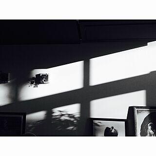 リビング/白黒/西日強め/影/コントラスト強め...などのインテリア実例 - 2016-01-31 17:01:31