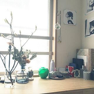 女性一人暮らし1R、ワークデスクに関するiqco.さんの実例写真