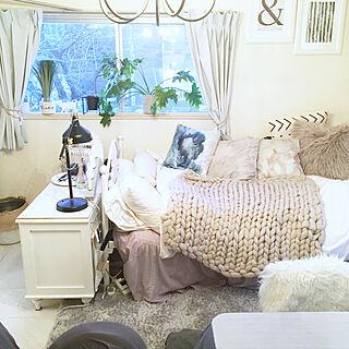 女性一人暮らし1K、リビングベッドに関するsakielさんの実例写真