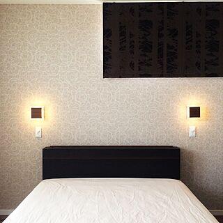 ベッド周り/寝室の照明/寝室の壁/ブラケット/ミニマリストに憧れて...などのインテリア実例 - 2015-06-20 11:42:32