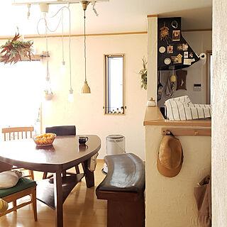 女性32歳の家族暮らし4LDK、漆喰DIYに関するl..tomesanさんの実例写真