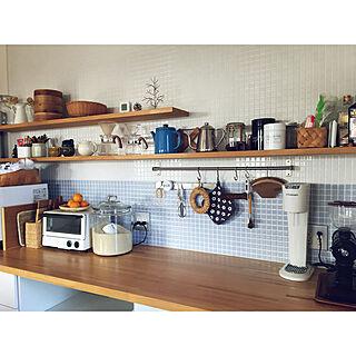 女性家族暮らし4LDK、ナチュラルキッチン&に関するkomakiさんの実例写真