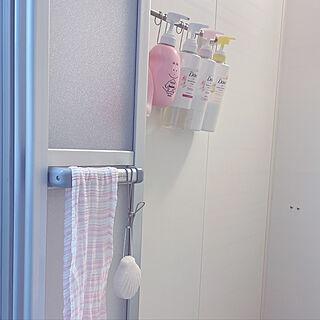 お風呂はシンプルに/Dove/バーバパパ/こんにゃくパフ/ピンクで統一...などのインテリア実例 - 2020-12-27 23:17:06