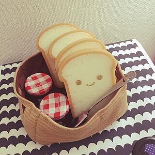 女性36歳の家族暮らし2LDK、食パンスポンジ 食パン型スポンジに関するminteaさんの実例写真