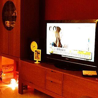 リビング/インテリア大好き大好き♡/照明/IKEA/壁紙や本舗さん...などのインテリア実例 - 2014-10-03 19:46:34