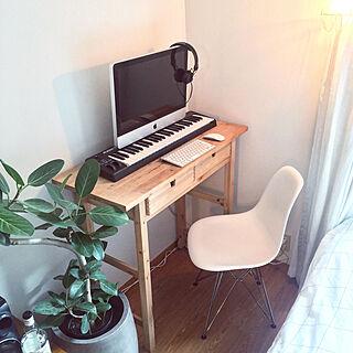部屋全体/ゼンハイザー/観葉植物/IKEA/iMac...などのインテリア実例 - 2018-03-03 15:54:14