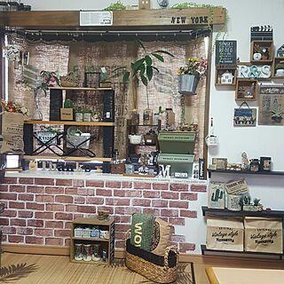 女性家族暮らし、サボテンウッドボードに関するmirionroseさんの実例写真