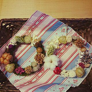 女性家族暮らし、森ガール風リースに関するmonblanさんの実例写真