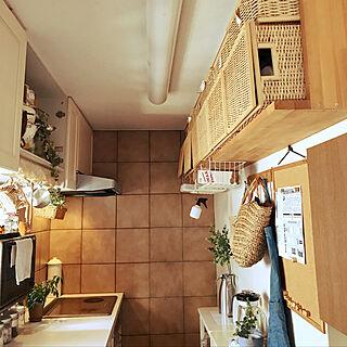 キッチン/DIY/かご収納/無印良品/観葉植物...などのインテリア実例 - 2018-10-13 11:56:30