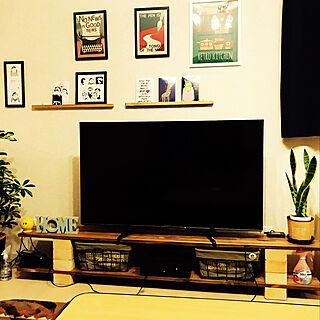 男性35歳の家族暮らし4LDK、テレビ台DIYに関するyasuさんの実例写真