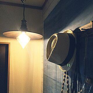 ハンドメイド/DIY/カインズ/LEDフィラメント電球/壁DIY...などのインテリア実例 - 2017-07-09 18:07:57