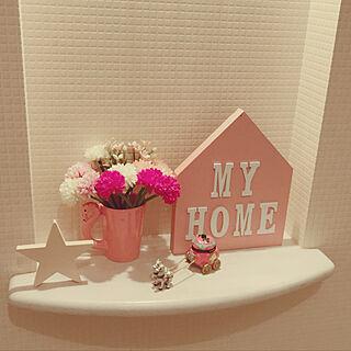 女性家族暮らし4LDK、初ペンキ塗り記念☻に関するalohanatsukoさんの実例写真