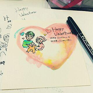 女性29歳の家族暮らし、バレンタインカードに関するyucha129さんの実例写真