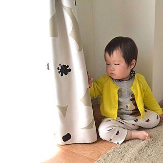 リビング/カーテン/赤ちゃん/my babyなぎさんのインテリア実例 - 2014-04-25 23:10:07