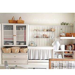 女性家族暮らし、手作りで溢れたお家に関するp..cさんの実例写真