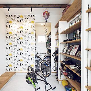 壁/天井/デザイン壁紙/アクセント壁紙/アクセントクロス/自転車...などのインテリア実例 - 2016-02-25 15:36:11