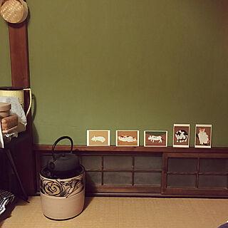 壁/天井/三毛猫/猫/熊谷守一ポストカード/鉄瓶...などのインテリア実例 - 2018-02-28 05:43:36