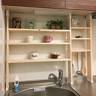 キッチン/ラブリコ/1×4材/DIY/ダイソー...などのインテリア実例 - 2018-10-11 14:30:07