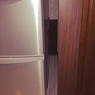 キッチン/セリアの板/ペットフェンス/安全対策/冷蔵庫の裏は危ない!...などのインテリア実例 - 2017-07-17 13:39:49