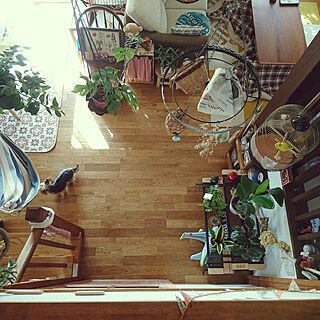 女性35歳の家族暮らし、ハンモックチェアに関するakiさんの実例写真