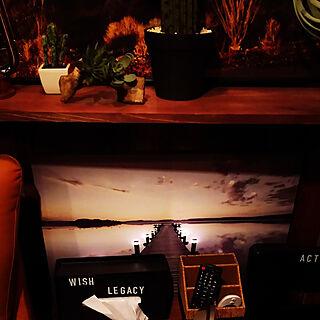 インダストリアル/夜の戸張/ヴィンテージ/ダイソー/暮らしの一コマ...などのインテリア実例 - 2019-05-05 00:02:43