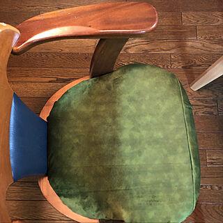 椅子座面張替え/椅子の張り替え/椅子リメイク/リビング/DIYのインテリア実例 - 2020-12-30 23:10:54