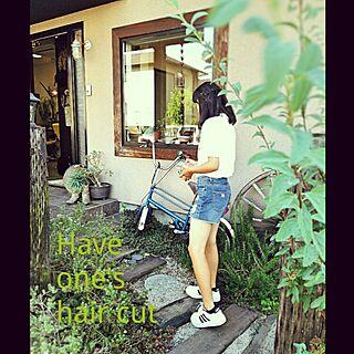 女性44歳の家族暮らし、店舗付き住宅*自宅用玄関に関するkaorinさんの実例写真