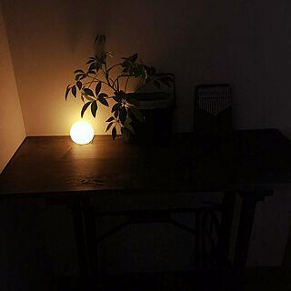 100均/照明/ミシン脚テーブルDIY/はんごうリメイク/観葉植物...などのインテリア実例 - 2021-04-19 18:03:29
