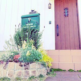玄関/入り口/花壇/枕木/ポスト/エクステリア...などのインテリア実例 - 2016-09-07 02:30:54