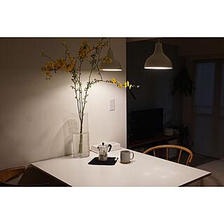 コーヒー/花のある暮らし/観葉植物/北欧/ペンダントライト...などのインテリア実例 - 2020-03-28 20:55:01
