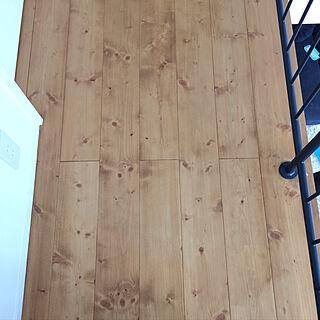 部屋全体/リボス塗装/パイン/パイン材の床/無垢床のインテリア実例 - 2017-08-16 12:40:02