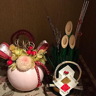 女性家族暮らし、ミニ門松に関するrosemaryさんの実例写真