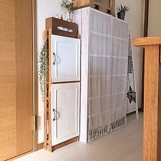 女性37歳の家族暮らし2LDK、カラーペイントに関するKaneyukiさんの実例写真