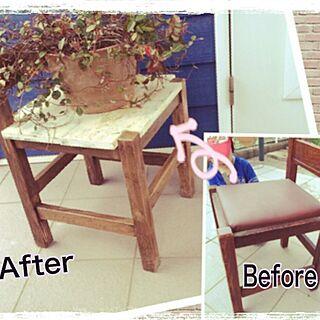 棚/DIY/アンティーク/リメイクした椅子/リメイクのインテリア実例 - 2014-05-23 20:45:55