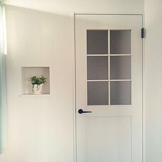 玄関/入り口/白いドア/明るい部屋/清潔感大切/白が好き♡...などのインテリア実例 - 2018-04-29 17:08:35