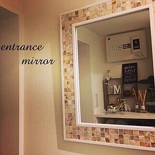 女性29歳の一人暮らし1LDK、mirrorに関するmiraiさんの実例写真