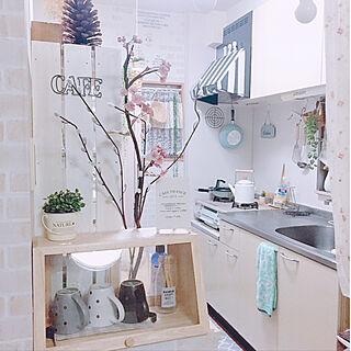 女性36歳の家族暮らし、ニトリのキッチンカウンターに関するma-ri..さんの実例写真
