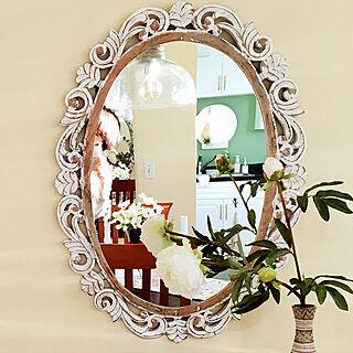 芍薬/madeinIndia/インド製の鏡/鏡のあるダイニング/鏡のある部屋...などのインテリア実例 - 2019-03-12 07:40:10