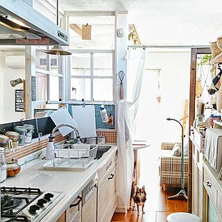 キッチン/見せる収納/引っかけ収納/WOODONEのキッチン/タイル...などのインテリア実例 - 2018-12-04 07:48:59