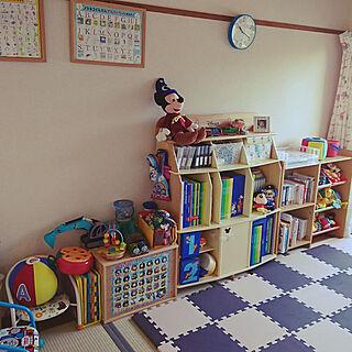 女性33歳の家族暮らし3DK、子供 部屋 棚に関するsou-maさんの実例写真