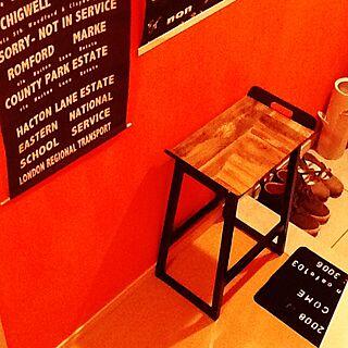 玄関/入り口/ダイソー/IKEA/植物/インテリア...などのインテリア実例 - 2014-12-21 21:39:28