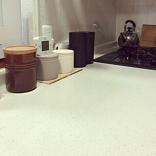 キッチン/ル・クルーゼ/シンプルに暮らしたい/ものを減らしたい/中古マンションリフォームのインテリア実例 - 2019-03-19 08:33:02