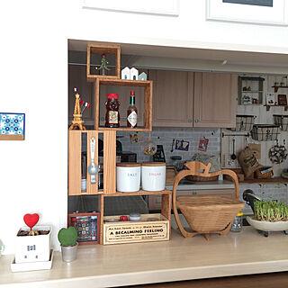 女性家族暮らし、カウンター棚に関するrinonori3さんの実例写真