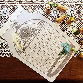 机/ワインコルク アレンジ/カレンダー/セリア/2018.8.30...などのインテリア実例 - 2018-08-30 17:32:33
