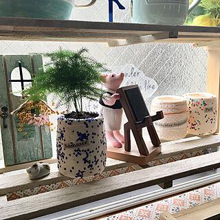 キッチン/観賞用アスパラガス/ニス塗り/デコパージュ/ニュースペーパー...などのインテリア実例 - 2018-06-11 11:35:05