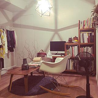 女性の、2LDK、一人暮らしの「棚」についてのインテリア実例