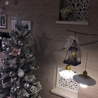 リビング/流木ディスプレイ/クリスマスツリー/ペンダントライト手作り/ペンダントライト風...などのインテリア実例 - 2017-12-23 01:36:17
