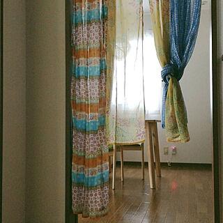女性家族暮らし3DK、のれんに関するnaoismさんの実例写真
